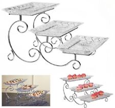 3 Tier Serving Tray Tiered Serveware Buffet Supplies Candy Appetizer Stand Three