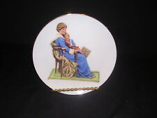 Museum Collections Bedtime Plate, Inspired by Norman Rockwell, Free Shipping