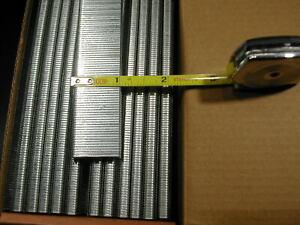 "18 gauge 1/4"" Narrow Crown Staples 5000/bx Galvanized Chisel Point 1"" long"