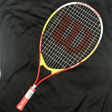 Wilson US Open Junior Tennis Racquet, 23 Inch Red And Yellow 3 5/8 Grip New