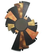Contemporary Abstract Geometric Mirror with Metal accents - 27x18 by Alisa