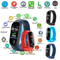 M3 Bluetooth Smart Watch Heart Rate & Blood Pressure Monitor Fitness Tracker