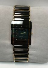 Mens Black Ceramic Rado Quartz Wrist Watch Diastar