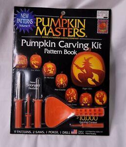 Vintage 1998 Pumpkin Masters Pumpkin Carving Kit Pattern Book NEW IN PACKAGE