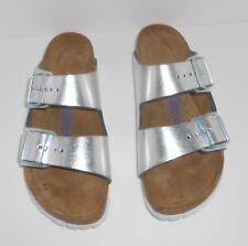Birkenstock Arizona Soft Footbed Sandals Metallic 37 Size 6-6.5