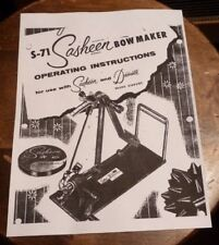 Digital PDF Instruction Book/Manual By 3M Sasheen S-71 Bow Maker