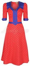Lindybop Moira VINTAGE 40 S WW2 Landgirl 50 s Rockabilly Pinup Thé Robe Chemise 10