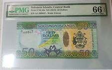 2013 Solomon Islands 50 Dollars PMG66 EPQ GEM UNC <P-UNL50a> First Prefix