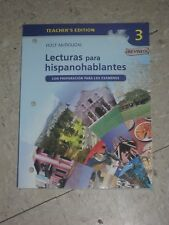 Holt McDougal Spanish 3 Lecturas para hispanohoblantes Teacher Edition+2 CDs