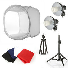 Photo Studio Video Softbox Light Stand Continuous Lighting Bulb Lampshade Kit