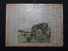 Calendrier Almanach 1942 campagne Nantes calendar France calendario Kalender