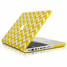 "UNIK CASE-Chevron Matte Hard Case for Macbook Pro 15"" with DVD Drive-Yellow"