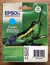 EPSON STYLUS PHOTO 950 CYAN Original Ink Print Cartridge T0332 - New Sealed