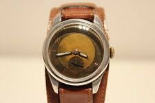 VINTAGE RARE UNBRANDED WW2  MILITARY ALUMINUM CASE MEN'S SWISS WATCH 15 jewels