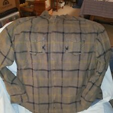 Mens Horny Toad  insulated flannel shirt/jac  xxl brown