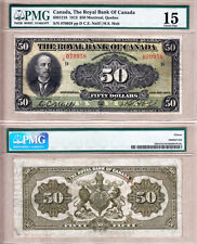 Rare Large Size 1913 $50 Royal Bank of Canada Chartered. PMG Certified Fine15