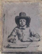 Rembrandt van Rijn-ACQUAFORTE CARTA-BOY scrittura-firmato datato 1637, per ripristinare