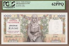 GREECE: 1000 Drachmai Banknote,(UNC PCGS62),P-106a,01.05.1935,No Reserve!