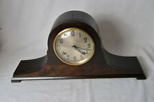 "New Haven Clock Co Tambour No.74 Mantel Clock ""WORKING"""