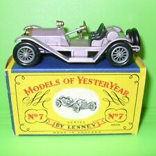 Matchbox - Yesteryear / Y7 1913 Mercer Raceabout in Mauve / Boxed