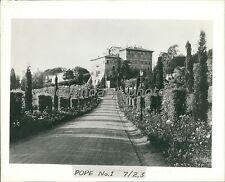 1938 Barberini Palace of Pope Pius XI Original News Service Photo