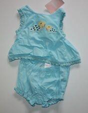 New Gymboree Light Blue Top Shorts 2 Piece Summer 3-6m NWT Island Beauty Line