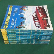 Lotto 12 Riviste/Magazine QUATTRORUOTE ANNATA 1983 COMPLETA !!!