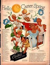 1950 Carter's Kids Boy's Men's Underwear Full Page Color Vintage Print Ad 910