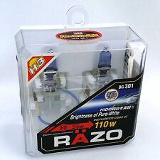 RAZO H3 Xenon Headlight Bulbs Bright - Pure White  JDM Halogen BG301 New Sealed
