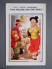 R&L Postcard: Comic, Bamforth 644, Greengrocer Shop, Fruit & Veg, Large Breasts