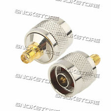 ADATTATORE CONNETTORE N male to SMA FEMALE PER antenne CONNECTOR ADAPTER ANTENNA