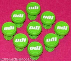ODI Nylon Push In Style BMX Handlebar Ends - BMX Bar Ends - GREEN