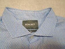 Bonobos 100% Cotton Blue Sun Polka Dot Trim Fit Sport Shirt NWT Medium $98