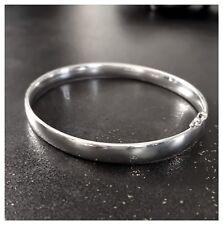 Bracelet Jonc Ovale Ouvrable Argent Massif 925/1000 Bijoux Femme