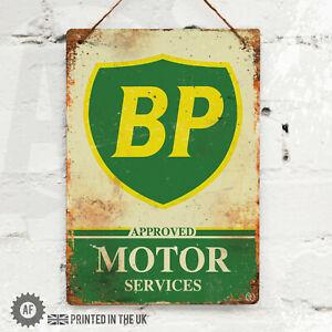 BP Shield Metal Wall Sign Pub Bar Kitchen Home Mancave Garage Shed Race Fuel