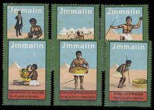 DR, Mettmann, 6 versch. Immalin- Werbemarken  (1571001799)