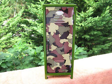 "Replica Mini Metal Gym Locker Camo Design~10 7/8"" Tall"