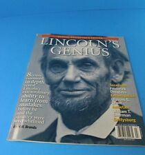 LINCOLN'S GENIUS 2009 Issue: 8 Crisis Lincoln Dealt With VERY GOOD CONDITION