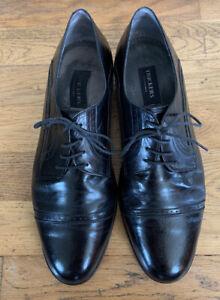 Trickers International Men's Oxford Toe Cap Half Brogue - Black Shoes Size UK 11