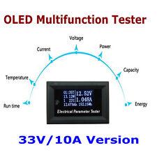 100v/10A OLED Tester Voltage Current Time Temperature Capacity Voltmeter Ammeter