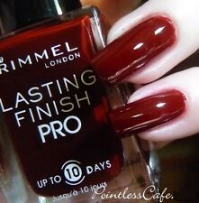 NEW! RIMMEL nail polish lacquer in BURGUNDY FLIRT ~ RED