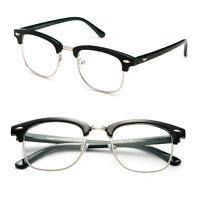 Half Frame Vintage Style Reading Prescription Glasses 2-Tone Colors Readers
