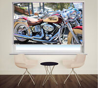 Classic Harley Davidson Motorbike Picture Photo window Roller Blind