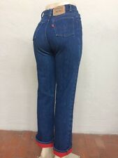 Vtg 70s 80s Levi's 517 Fleece Lined Mom Jeans women's 25x30 42 Talon Orange 3299