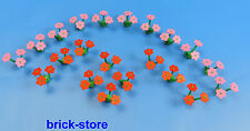 LEGO Flowers / Plants / 20 Piece 10 pink / 10 red flowers