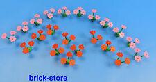 LEGO Fiori / Piante / 20 Pezzi 10 rosa / 10 rosso fiori