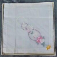 Embroidered Handkerchief Hankie Set in Box Made in Switzerland