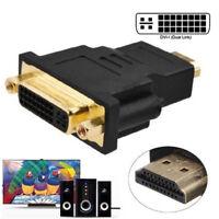 HDMI Male To DVI-D Female 24+1 DVI Converter Adapter LCD Monitor HDTV Comput RDR