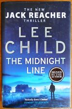 The Midnight Line by Lee Child Hardback Signed First Edition Jack Reacher #22