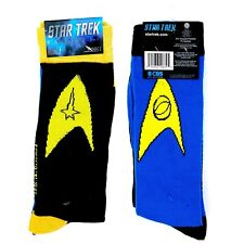 NWT New Star Trek Insignia Science Command Crew Socks Mens Womens